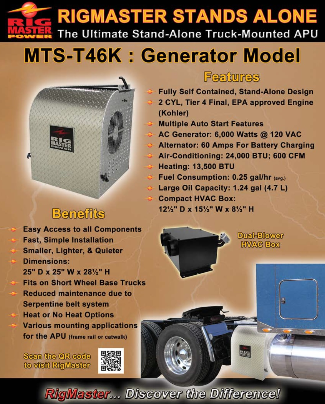 Rigmaster Generator Wiring Diagram Reveolution Of Aspire Starter Relay Big Rig Products Truck Apu Autos Post Cooling Fan